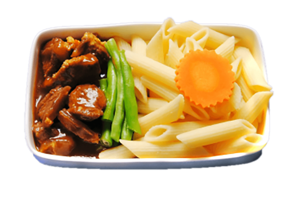Pasta with stewed beef